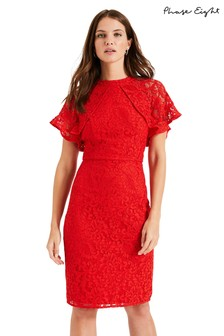 Phase Eight Red Luisa Lace Dress