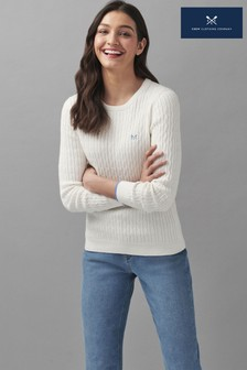 Crew Clothing Company Heritage Crew Neck Cable Jumper