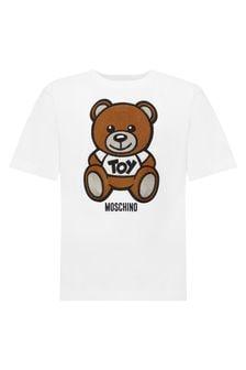 Moschino Kids White Cotton T-Shirt