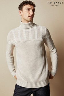 Ted Baker Natural Rolly Chunky Cotton Roll Neck