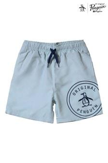 Original Penguin® Blue Logo Swim Shorts