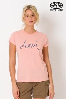 Animal Sunset Pink Marl Reel Me In Tee