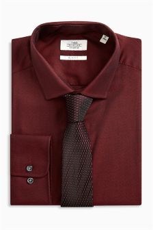 Рубашка из ткани хамелеон и галстук