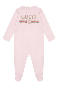 Pink Cotton Babygrow