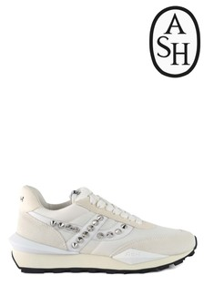 Ash Spider White Stud Trainers