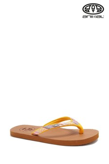 Animal Brown Traveller Flip Flops