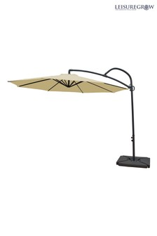 Palm 3m Cream Cantilever Parasol By Leisuregrow