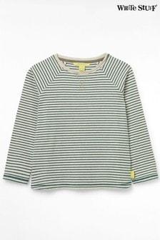 White Stuff Green Kids Seb Stripe Layering Top