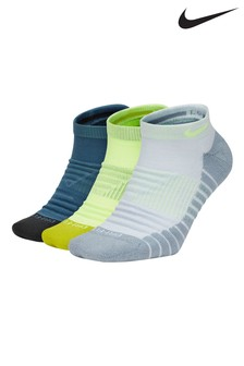 Nike Adult Black/White/Yellow Trainer Socks 3 Pack