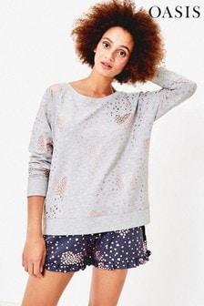 Oasis Heart Foil Sweater