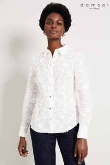 Damsel In A Dress Cream Embroidered Shirt