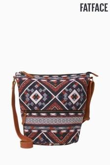 FatFace Natural Tia Woven Aztec Cross Body Bag