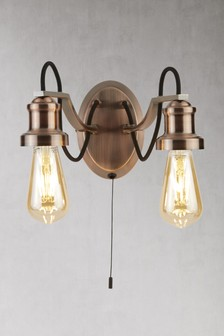 Penny 2 Light Wall Light by Searchlight