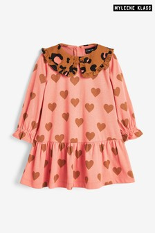 Myleene Klass Kids Animal Frill Collar Dress