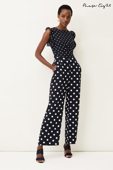 Phase Eight Blue Victoriana Spot Jumpsuit