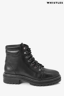 Whistles Black Hiker Boots