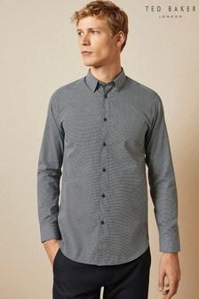 Ted Baker Blue Femme Cotton Geo Print Shirt