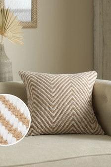 Natural Jute Herringbone Cushion