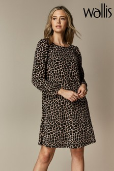 Wallis Petite Camel Giraffe Dress