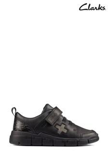 Clarks Black Leather Encode Flash Shoes