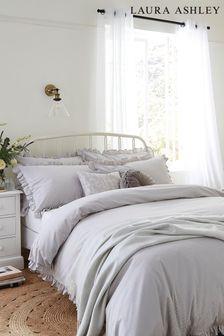 Silver Abigail Duvet Cover And Pillowcase Set