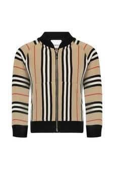 Burberry Kids Baby Boys Beige Cotton Sweater