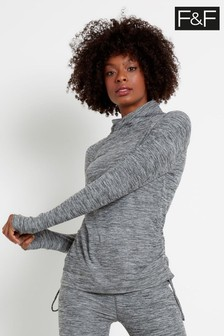 F&F Grey Yoga Rouched Layering Jacket