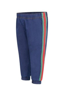 Baby Boys Blue Cotton Denim Joggers