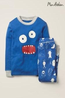 Boden Blue Glow-In-The-Dark Pyjamas