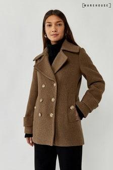 Warehouse Green Short Pea Coat