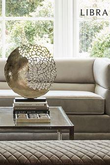 Libra Silver Apo Coral Aluminium Sculpture