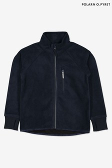Polarn O. Pyret Blue Waterproof Recycled Polyester Fleece Jacket