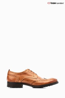 Base London® Tan Porter Burnished Lace-Up Brogue Shoes