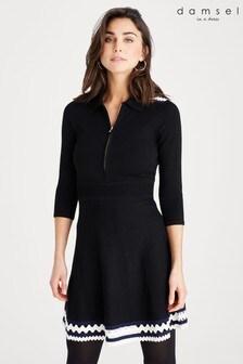 Damsel In A Dress Black Kyrah Colourblock Knit Dress