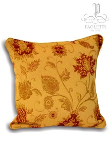 Riva Home Gold Zurich Jacquard Feather Filled Cushion