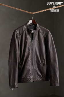 Superdry Light Leather Racer Jacket