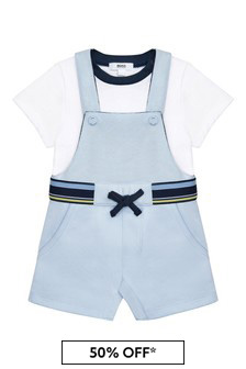 Boss Kidswear Baby Boys Blue Cotton Set