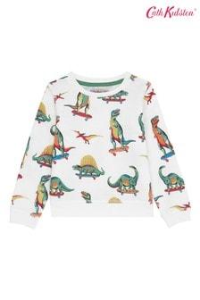 Cath Kidston® Kids White Skateboard Dino Sweatshirt