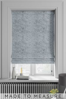 Made To Measure Grey Crushed Velvet Roman Blind