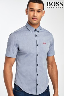 BOSS Blue Biadia Short Sleeve Shirt