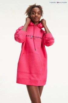 Tommy Hilfiger Pink Essential Logo Hoody Dress