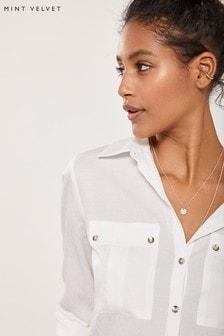 Mint Velvet White Utility Shirt