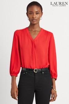 Lauren Ralph Lauren® Red Fajola Blouse