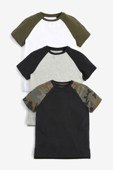 3 Pack Raglan T-Shirts (3-16yrs)