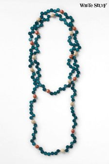 White Stuff Teal Verity Ceramic Mixed Necklace