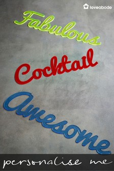 Personalised Long Acrylic Word Sign by Loveabode