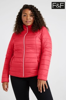 F&F Red Short Padded Coat