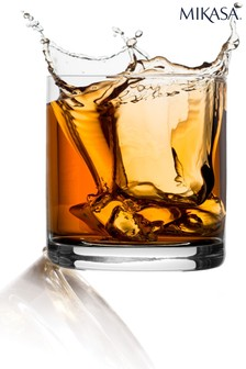 Set of 4 Mikasa Double Old Fashioned Glass
