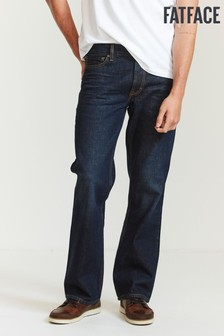 FatFace Blue Dark Vintage Wash Boot Cut Jeans
