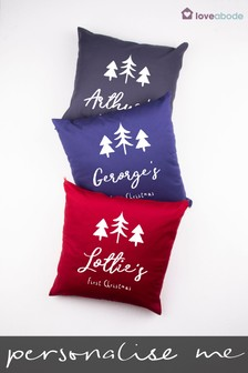 Personalised First Christmas Cushion by Loveabode
